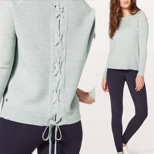Lululemon Tied To You Sweater—Heathered Starlight
